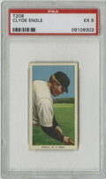 Baseball Cards:Singles (Pre-1930), 1909-11 T206 Clyde Engle PSA EX 5. Amazing color retention and centering way better than expected from the T206 issue, this...
