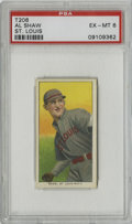 Baseball Cards:Singles (Pre-1930), 1909-11 T206 Al Shaw St. Louis PSA EX-MT 6. Fantastically-centered T206 example features short-time Cardinals outfielder Al...