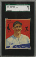 Baseball Cards:Singles (1930-1939), 1934 Goudey Luke Appling #27 SGC VG 40. Outstanding color retentionis one of the stronger points of the offered Hall of Fa...