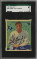 Baseball Cards:Singles (1930-1939), 1934 Goudey Hank Greenberg #62 SGC VG 40. Tigers legend HankGreenberg's Hall of Fame entry from the classic 1934 Goudey is...