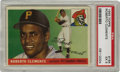 Baseball Cards:Singles (1950-1959), 1955 Topps Baseball Roberto Clemente #164 PSA EX 5. Here we offer afine example of the HOF great Roberto Clemente's tremen...