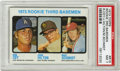 Baseball Cards:Singles (1970-Now), 1973 Topps Rookie 3rd Basemen #615 Cey/Hilton/Schmidt PSA NM 7. Fine PSA 7 card from the '73 Topps set includes three rooki...