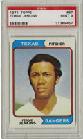 Baseball Cards:Singles (1970-Now), 1974 Topps Fergie Jenkins #87 PSA Mint 9. The amazing Canadianhurler Fergie Jenkins is shown in all its Mint glory here, e...