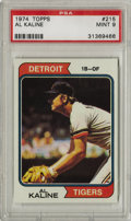 Baseball Cards:Singles (1970-Now), 1974 Topps Al Kaline #215 PSA Mint 9. Yet another Mint Hall of Fameentry from Topps' 1974 issue, this one featuring Detroi...