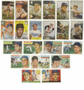 Autographs:Baseballs, 1953-56 Baseball Cards Group Lot of 21. Twenty-one great cards froman important time in the hobby, all from classic Topps ...