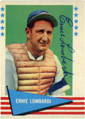 Autographs:Sports Cards, 1961 Fleer Signed Ernie Lombardi #55. A simply unimprovable ink signature appears on this card from the 1961 Fleer baseball...