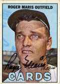 Autographs:Sports Cards, 1967 Topps Signed Roger Maris #45. Unimprovable example of the great slugger Roger Maris' signature has been applied to his...
