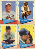 Autographs:Sports Cards, 1961 Fleer Baseball Signed Cards Group Lot of 4. All four of thecards that we make available from the 1961 Fleer issue hav...