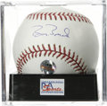 Autographs:Baseballs, Barry Bonds Single Signed Baseball, PSA Gem Mint 10. Home runrecord pursuant Barry Bonds has provided a perfect signature ...