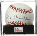 Autographs:Baseballs, Happy Chandler Single Signed Baseball, PSA NM-MT+ 8.5. ONL (White)baseball offers a strong sweet spot signature from this ...