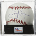 Autographs:Baseballs, Tony Gwynn Single Signed Baseball, PSA Mint 9. Padres super sluggerand surefire future HOFer Tony Gwynn has provided this ...