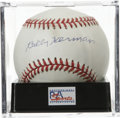 Autographs:Baseballs, Billy Herman Single Signed Baseball, PSA NM-MT+ 8.5. Hall of Famesecond baseman Billy Herman has left his signature on the...