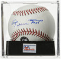 Autographs:Baseballs, Willie Mays Single Signed Baseball, PSA NM-MT+ 8.5. Willie Mays,one of the legends of the game, has left his strong signat...