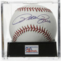 Autographs:Baseballs, Pete Rose Single Signed Baseball, PSA Gem Mint 10. An unbeatablesweet spot signature from Hit King Charlie Hustle appears...