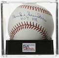 "Autographs:Baseballs, Duke Snider ""407 HR"" Single Signed Baseball, PSA Gem Mint 10.Centerfield hero Duke Snider has applied an exquisite sweet s..."