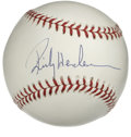 Autographs:Baseballs, Rickey Henderson Single Signed Baseball. Beautiful example of thefuture Hall of Famer's signature appears on the sweet spo...