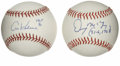 Autographs:Baseballs, Al Kaline and Denny McClain Single Signed Baseballs Lot of 2. Twoof the heroes of Detroit Tigers annals have each applied ...