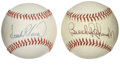 Autographs:Baseballs, Frank Robinson and Brooks Robinson Single Signed Baseballs. TheHall of Fame Oriole duo Brooks and Frank Robinson have each...