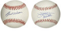 Autographs:Baseballs, Jim Palmer and Earl Weaver Single Signed Baseballs Lot of 2. Thisduo made many O's fans happy during the three decades tha...