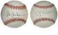 Autographs:Baseballs, Rickey Henderson and Tony Gwynn Single Signed Baseballs Lot of 2.This pair of talented ballplayers are destined to become ...