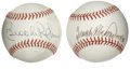 Autographs:Baseballs, Brooks Robinson and Frank Robinson Single Signed Baseballs Lot of2. This pair of one-time Baltimore Orioles teammates each...