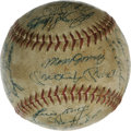Autographs:Baseballs, Circa 1960s Baseball Stars Multi-Signed Baseball. Thirty signaturesappear on this baseball from a variety of players from ...