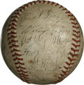 Autographs:Baseballs, 1945 Chicago White Sox Team Signed Baseball. Excellent vintage orbthat we offer here presents thirty-one signatures from t...