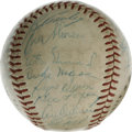 Autographs:Baseballs, 1957 New York Yankees Team Signed Baseball. The New York Yankees played a brilliant season in '57, winning the AL pennant wi...
