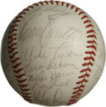 Autographs:Baseballs, 1975 St. Louis Cardinal Team Signed Baseball. Twenty-eight qualitysignatures from the 1975 St. Louis team are offered here...