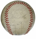 Autographs:Baseballs, 1985 Kansas City Royals World Champion Team Signed Baseball. Aftersecuring their second consecutive AL West crown in 1985,...