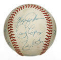 Autographs:Baseballs, 1988 Texas Rangers Team Signed Baseball. Eleven individuals fromthe 1988 Texas Rangers are joined here by HOF Rangers pitc...