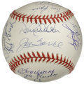 Autographs:Baseballs, 1998 New York Yankees Team Signed Baseball. Twenty-two members ofthe 1998 World Series-winning New York Yankees appear he...