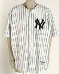 "Autographs:Jerseys, Scott Brosius Signed Jersey. Russell Athletic Authentic CollectionNew York Yankees home pinstripe jersey, complete with ""1..."