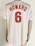 Autographs:Jerseys, Ryan Howard Signed Jersey. After making a strong claim for the NLMVP award along with the tremendous Albert Pujols and win...