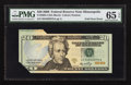 Error Notes:Foldovers, Fr. 2094-I $20 2006 Federal Reserve Note. PMG Gem Uncirculated 65EPQ.. ...