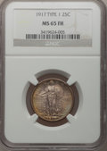 1917 25C Type One MS65 Full Head NGC