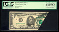 Error Notes:Foldovers, Fr. 1974-B $5 1977 Federal Reserve Note. PCGS Very Choice New64PPQ.. ...