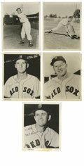 "Autographs:Photos, Signed Boston Red Sox Photographs Lot of 16. Tremendous collectionof 16 8x10"" photos of the 1955 Boston Red Sox, with each..."