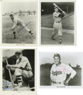 Autographs:Photos, Baseball Stars Signed Photographs Lot of 4. Four star players frombaseball's storied history each make a contribution to t...