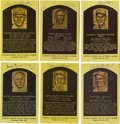 Autographs:Post Cards, Signed Gold Hall of Fame Plaques Lot of 30. Popular in the hobbyfor their simple elegance, the gold plaque postcards issue...(Total: 30 )