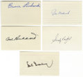 "Autographs:Index Cards, Baseball Hall of Famers Signed Index Cards Lot of 31. Each of thethirty-one 3x5"" index cards here has been signed by one o..."
