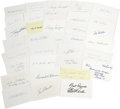 Autographs:Index Cards, Massive Collection of Signed Index Cards Lot of 288. Tremendous assortment of signed postcards from ballplayers who plied t...