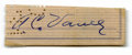 Autographs:Letters, Dazzy Vance Cut Signature. Clipped from a personal check, this cutsignature comes from the Hall of Fame hurler Dazzy Vance...