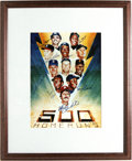 "Autographs:Others, 500 Home Run Club Lithograph Signed by 11. Fine 11x14"" litho depicts eleven members of baseball's illustrious 500 Home Run ..."
