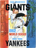 Autographs:Others, 1962 World Series Poster Signed by 14 New York Yankees. The 1962World Series was a call back to the many all-New York affa...