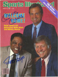 "Autographs:Others, Mickey Mantle and Willie Mays Dual-Signed ""Sports Illustrated""Cover. The beloved Hall of Fame pair of Willie Mays and Mick..."