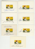 Autographs:Others, Baseball Hall of Famers Cut Signatures with Vintage Postage StampsLot of 7. A 1969 postage stamp has been mounted on each ... (Total:7 items)