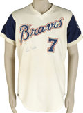 Baseball Collectibles:Uniforms, 1974 Frank Tepedino Game Worn Signed Jersey. Backup infielder FrankTepedino his final three seasons in the majors with the...