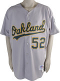 Baseball Collectibles:Uniforms, 1996-98 Jay Witasick Game Worn Uniform. Current Oakland A's reliever Jay Witasick wore this road gray jersey during his fir...