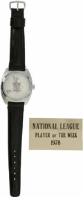 "Baseball Collectibles:Others, 1978 Dave Parker National League Player of the Week PresentationalWatch. One of many awards that Dave ""The Cobra"" Parker w..."
